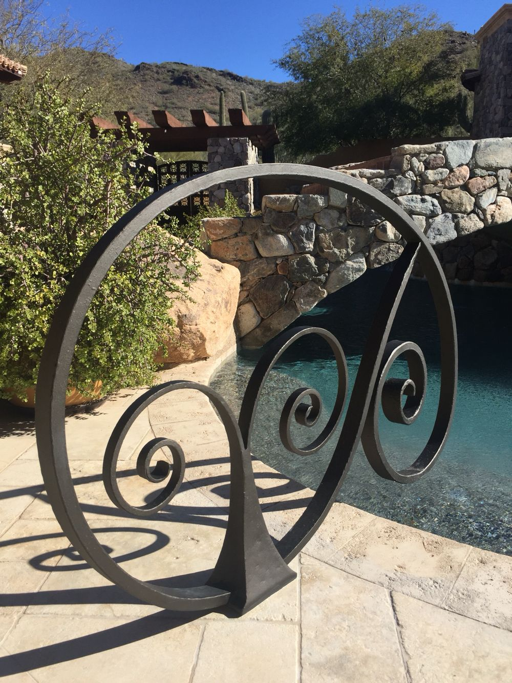 Hand Forged Iron Pool Rail With Images Pool Rails Pool