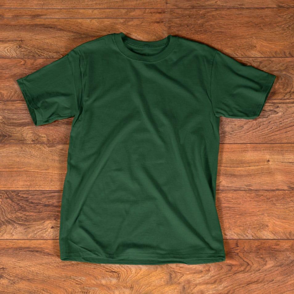 T Shirt Green Mockup Template Kaos Baju Kaos Pakaian Pria