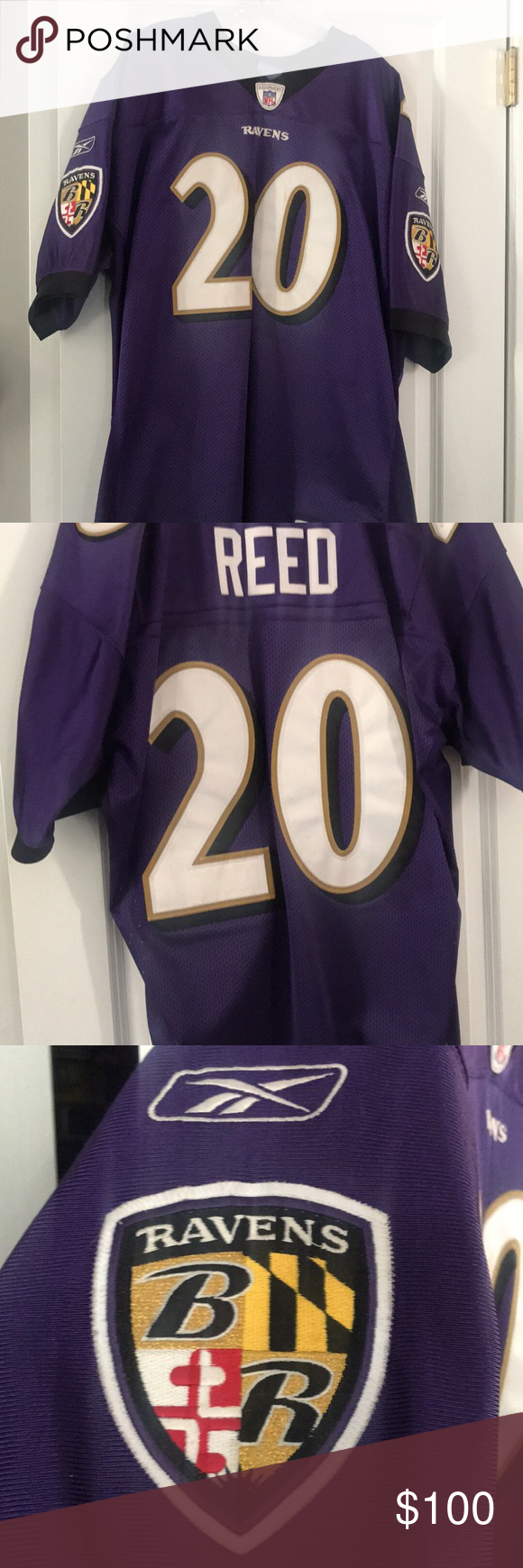 low priced 7cd55 e3384 Men's authentic Reebok Ed Reed Jersey Authentic jersey of ...