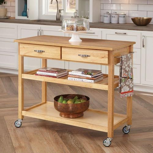 Best Home Styles Brown Scandinavian Kitchen Cart At Lowe S 400 x 300