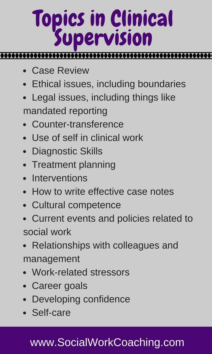Topics in Clinical Supervision (can substitute social