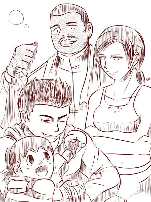 Little Mac, VIllager, Wii Wit & Doc Louis by Amito