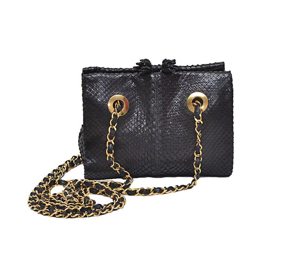 fc65388449c Luxury Colombo Via Della Spiga Genuine Python Evening Chain Shoulder Bag # Colombo #EveningBag
