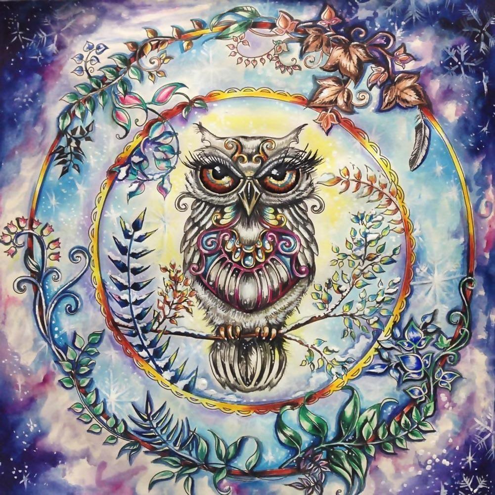 D diamond painting embroidery garland owl cross rhinestone cross