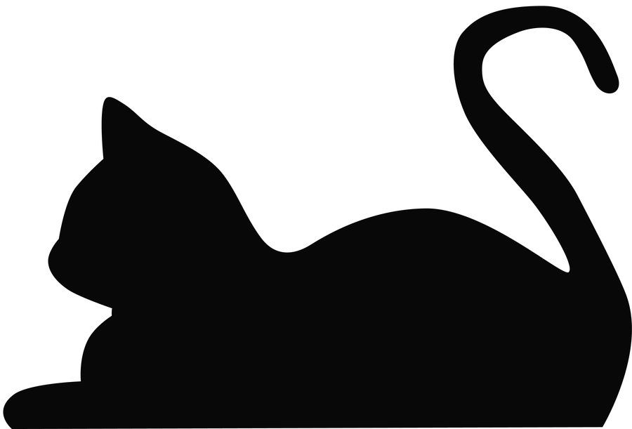 These Are Cat Silhouette S That Will Represent Each Rank Depending On If You Can T Find The Katten Tekening Applique Patronen Silhouet