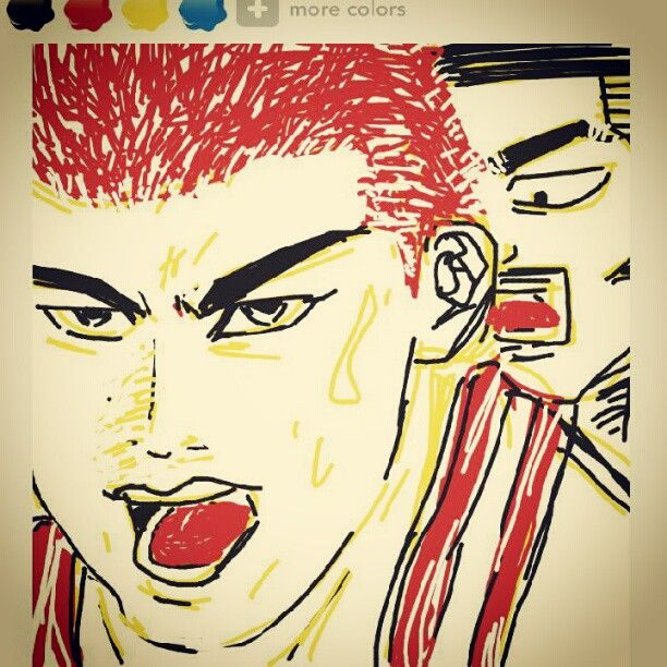 Sakuragi & Akagi in Japanese famous anime Slamdunk / Comics, Cartoon & Manga / 만화 슬램덩크 강백호 채치수
