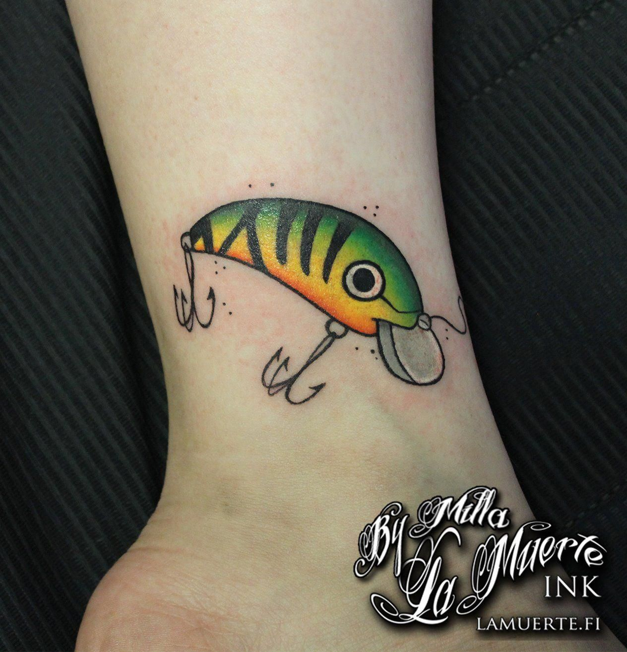 7cc4b37fa4a26 Lure tattoo by Milla Sipola @ La Muerte Ink | Best Fishing Spots ...