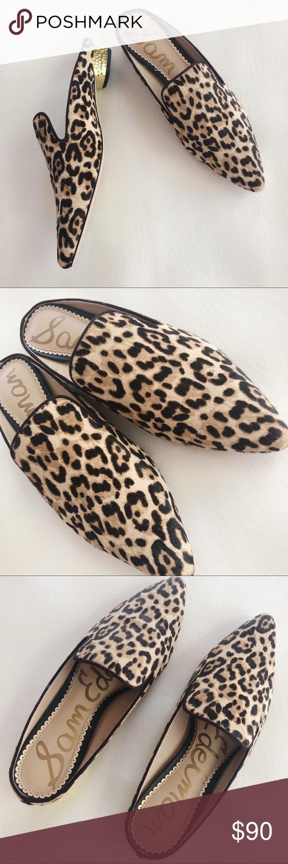 sam edelman leopard mule