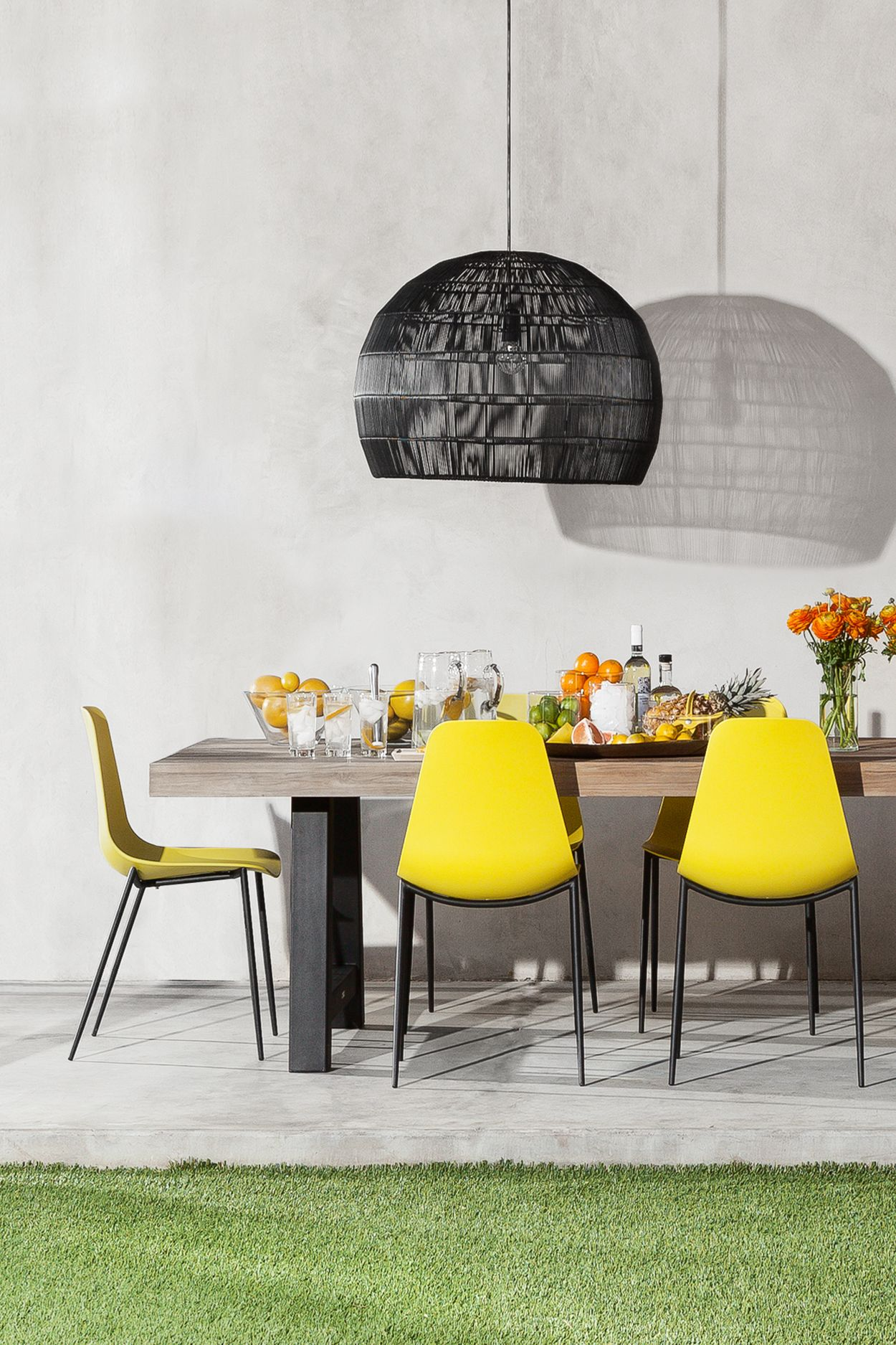 Svelti Daisy Yellow Dining Chair Colored Dining Chairs Yellow