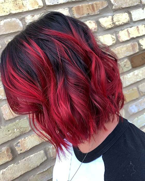Photo of 23 Ways to Rock Black Hair with Red Highlights | StayGlam