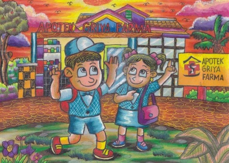 Pin Oleh Vitri Maharani Di Crayon Buku Mewarnai Seni Dan Warna