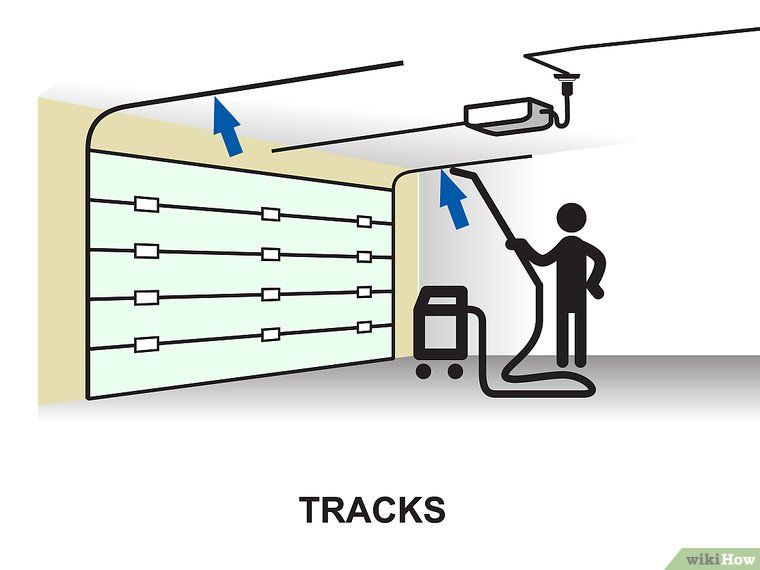 How To Lubricate A Garage Door 10 Steps With Pictures Garage Doors Garage Doors