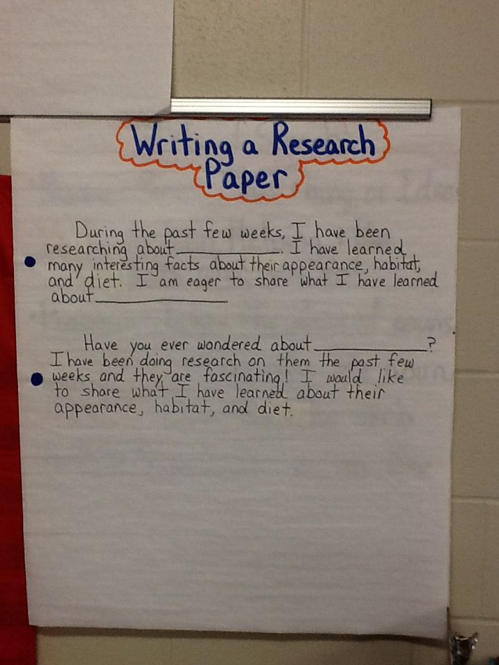Blue Sentence For Writing A Research Paper Research Paper 4th Grade Writing Third Grade Reading