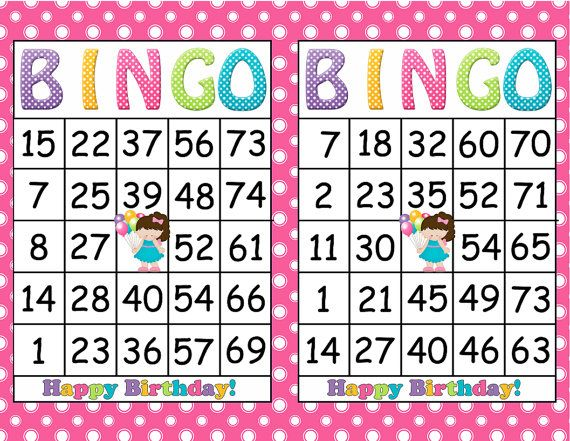 image about Printable Bingo Cards for Kids named Printable Bingo Birthday Lady Social gathering Recreation- Immediate Down load