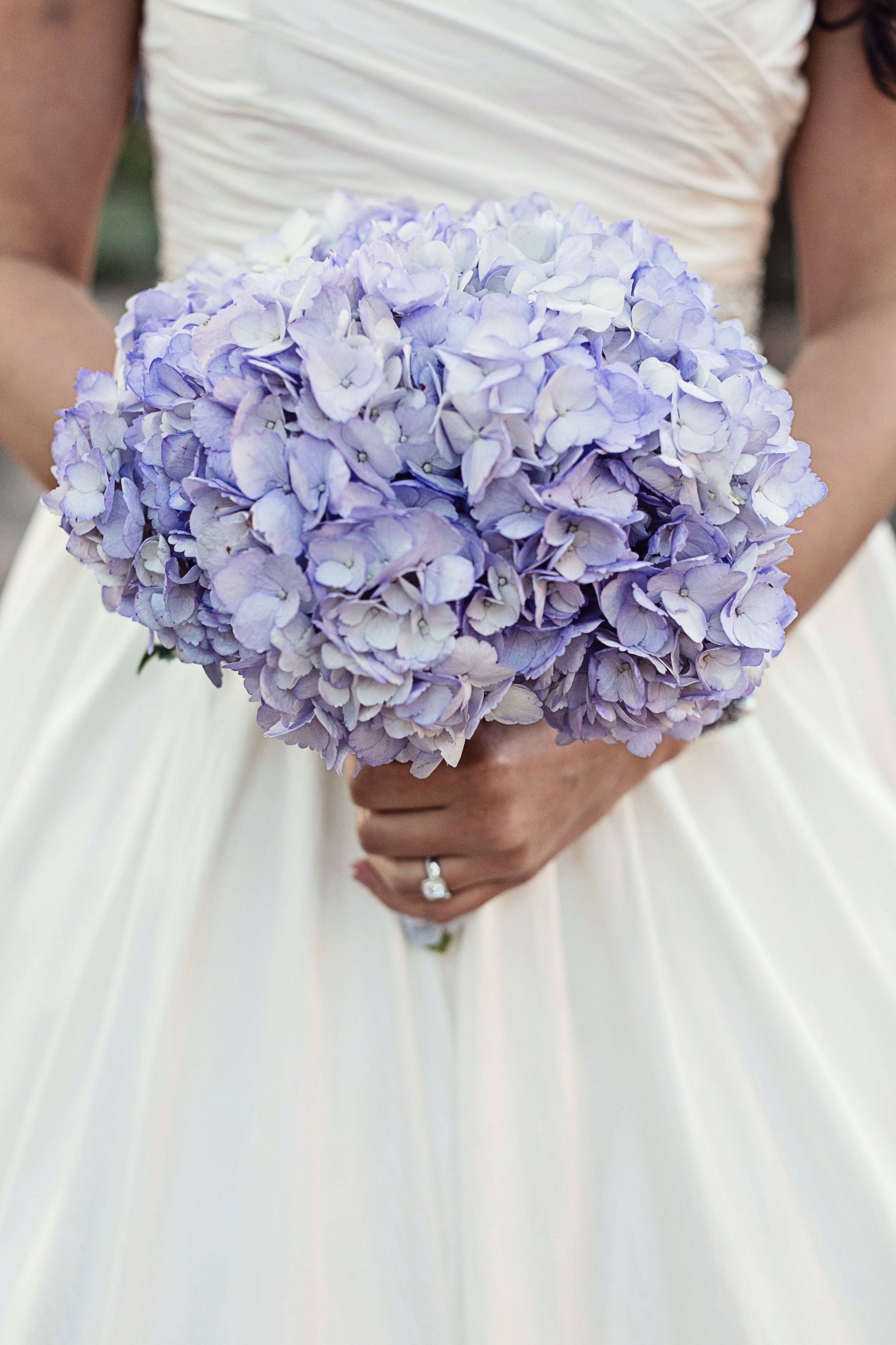Purple Hydrangea Bouquet Christina Karst Photography Theknot