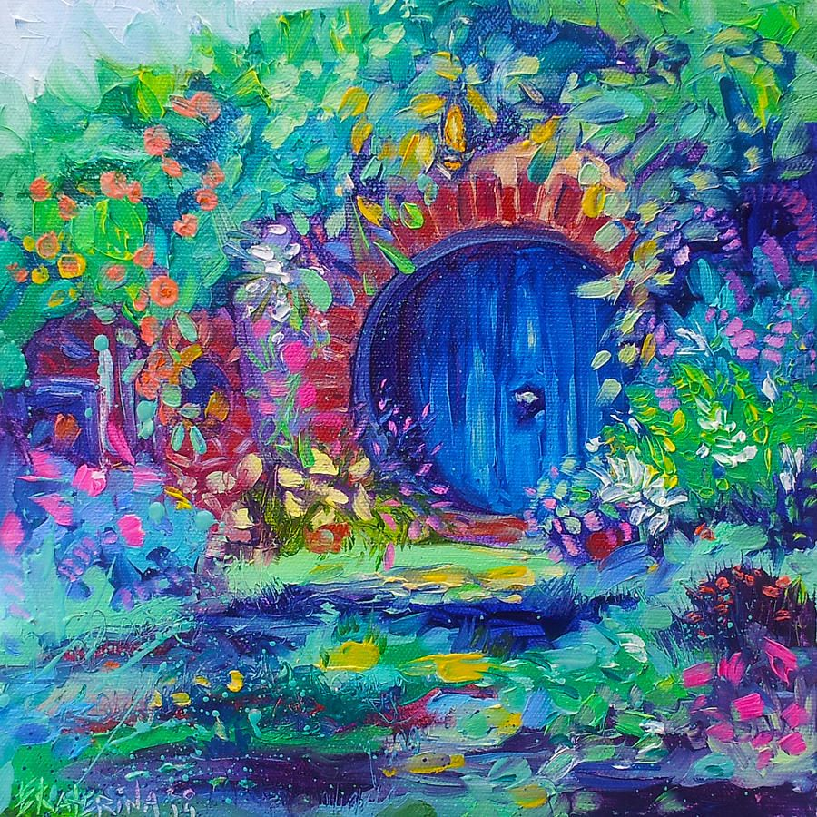 Lord Of The Rings Painting Hobbit House Shire Hobbiton By Ekaterina Chernova