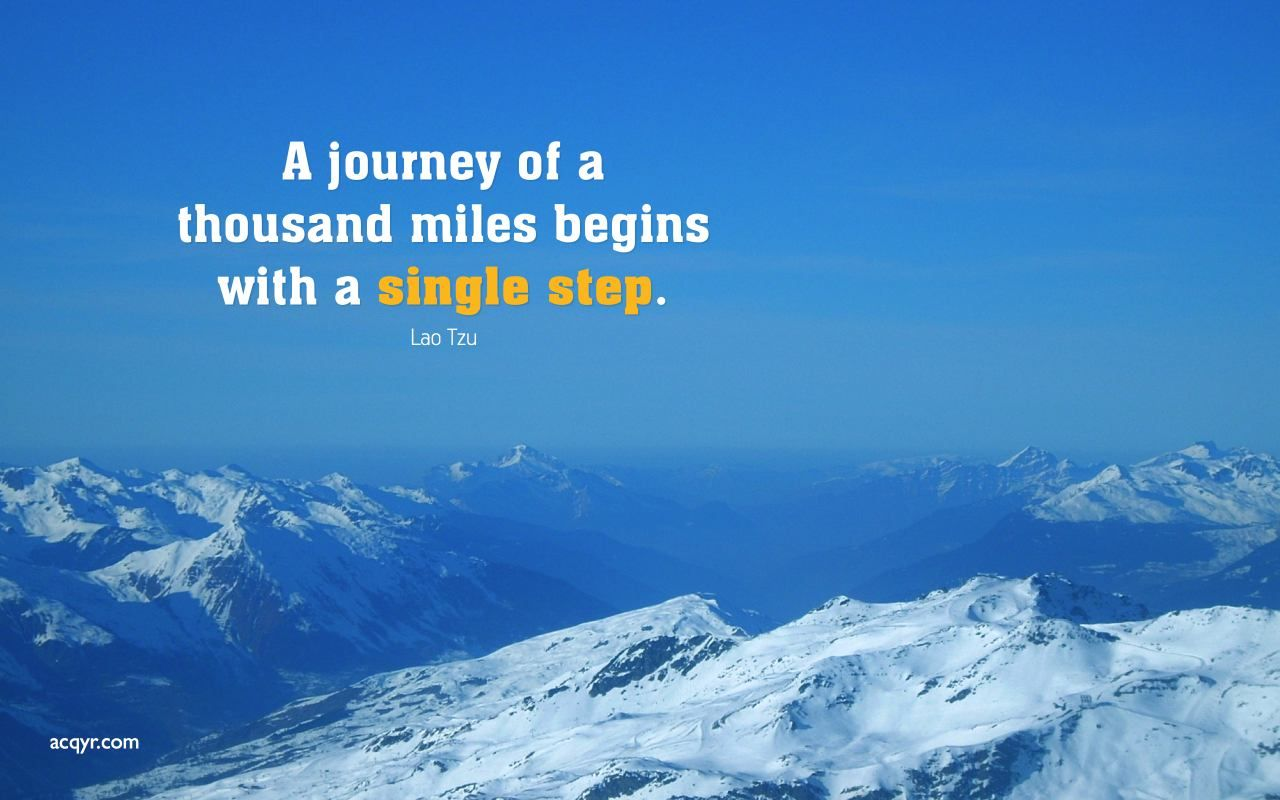 Inspirational Snowy Mountain Tops Winter Desktop Steps Quotes Positive Quotes Wallpaper Motivational Images