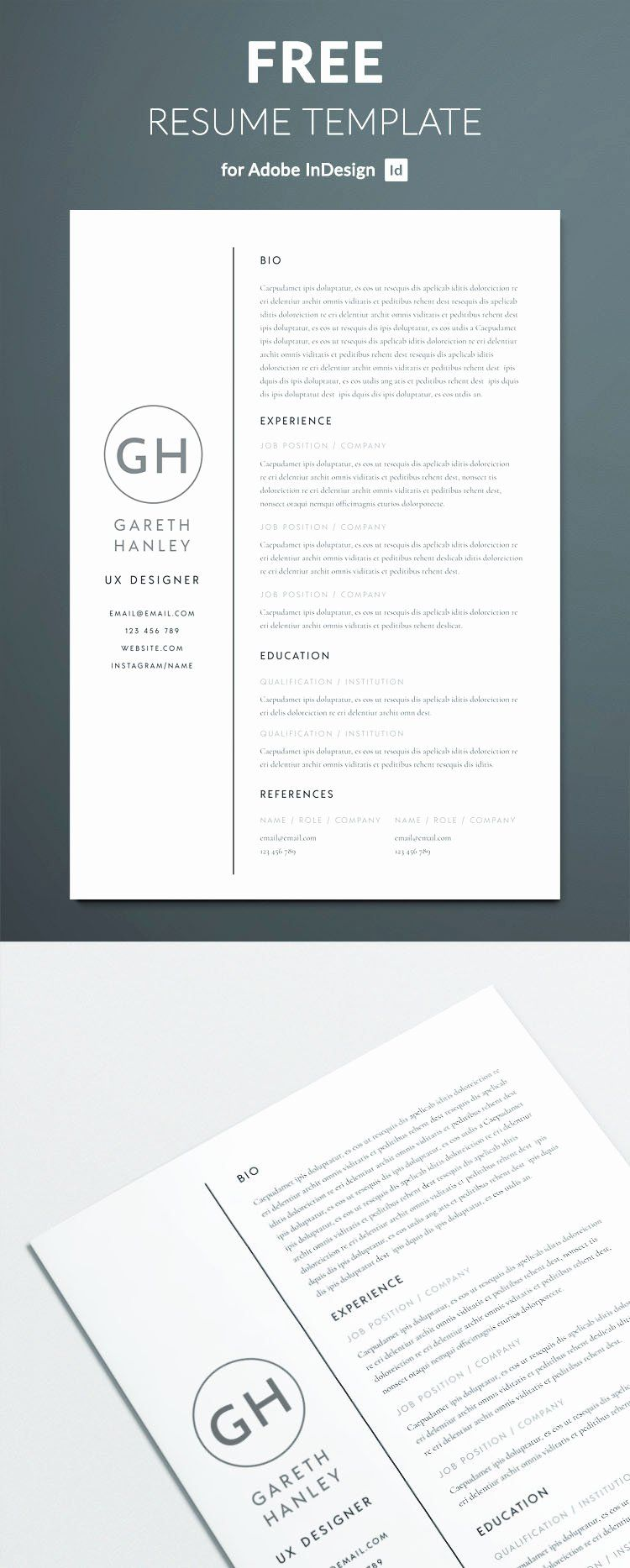 25 Free Basic Resume Templates Download in 2020 Indesign