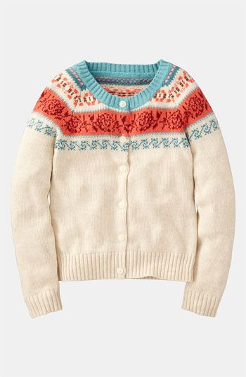 Mini Boden Fair Isle Print Cardigan (Toddler) available at ...