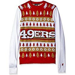9bb59b76 NFL San Francisco 49ers One Too Many Ugly Sweater, X-Large, Red ...