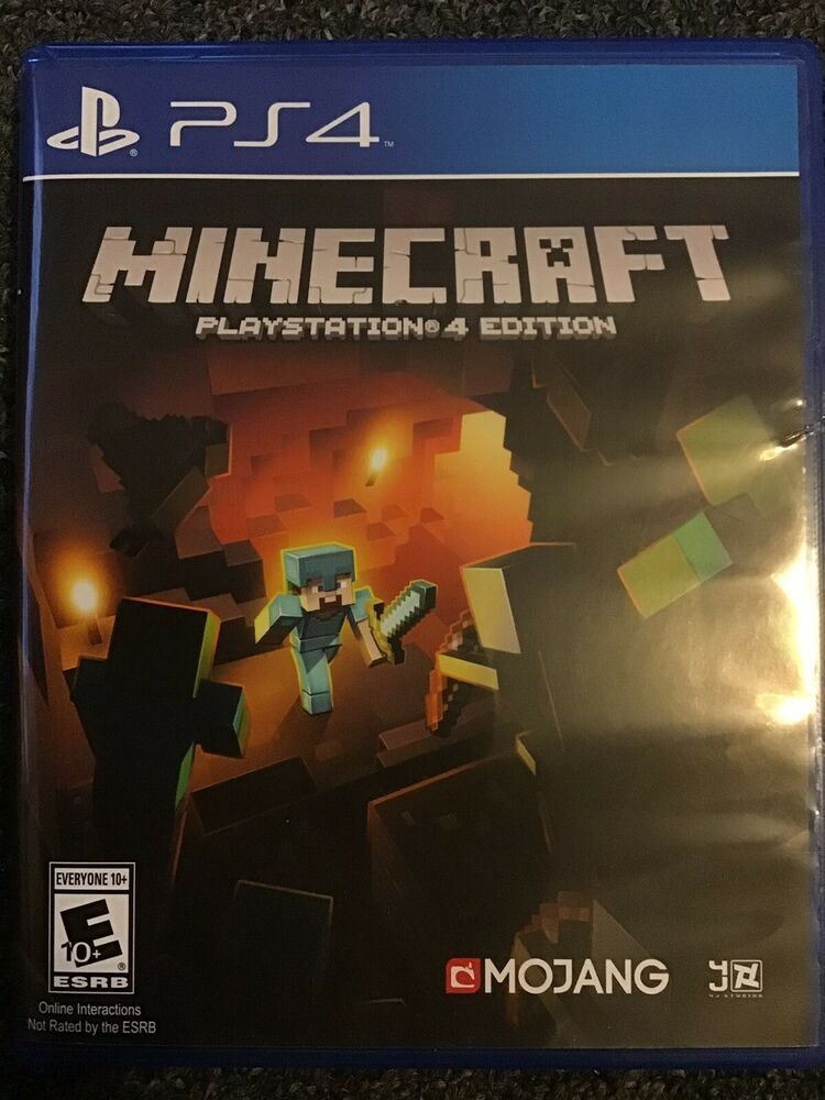 Minecraft Ps4 Playstation 4 Edition Brand New Cracked Case Ps4