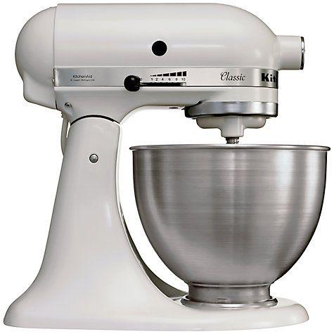 Buy Kitchenaid Classic Stand Mixer White Online At Johnlewis Com