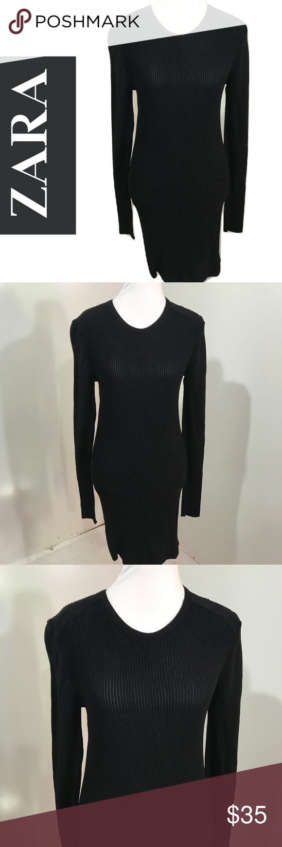 Zara l dress body con knit wiggle solid lbd sexy things i like on
