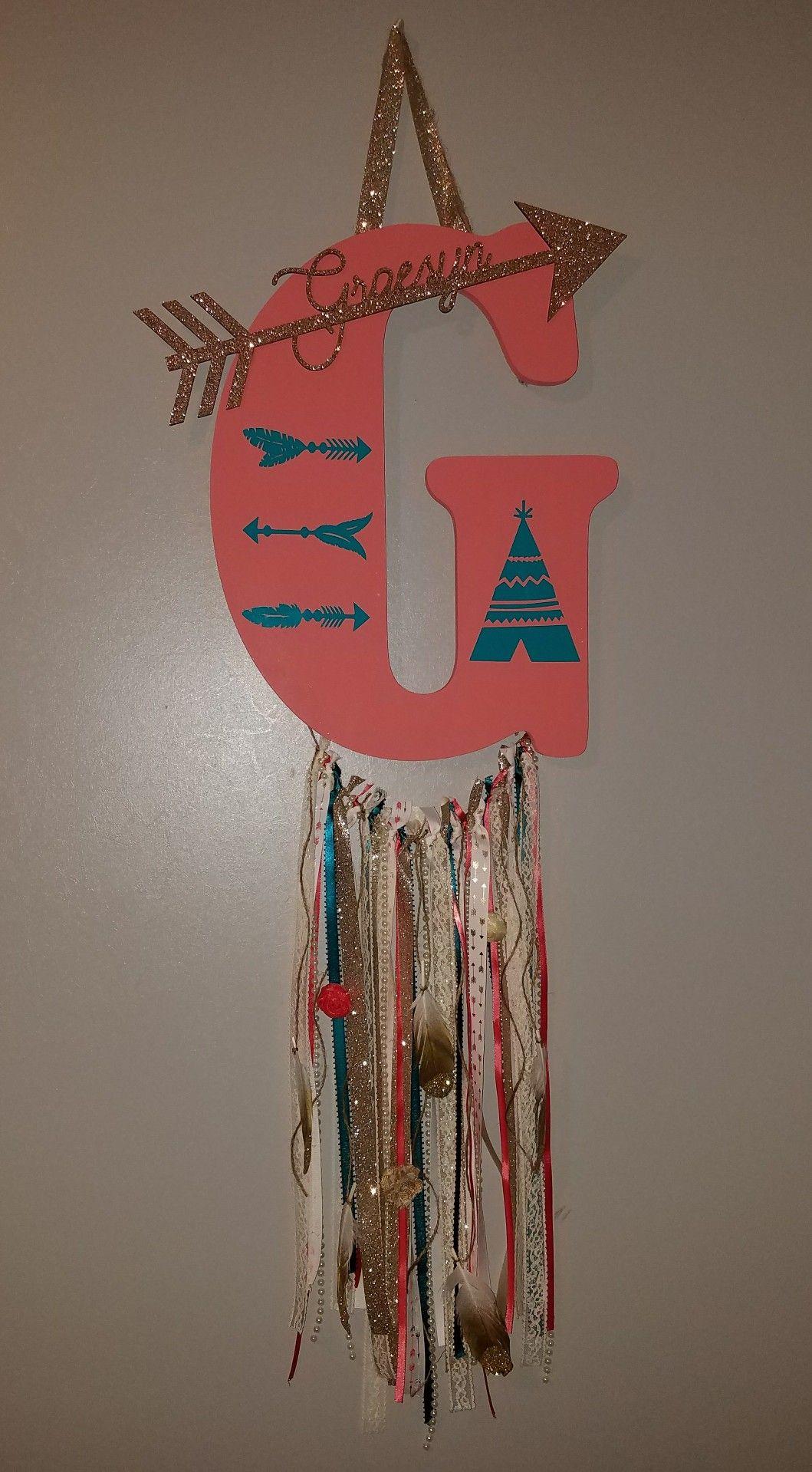 09670c4b0db5f Dream Catcher Door Hanger | wreaths | Baby door hangers, Baby door ...
