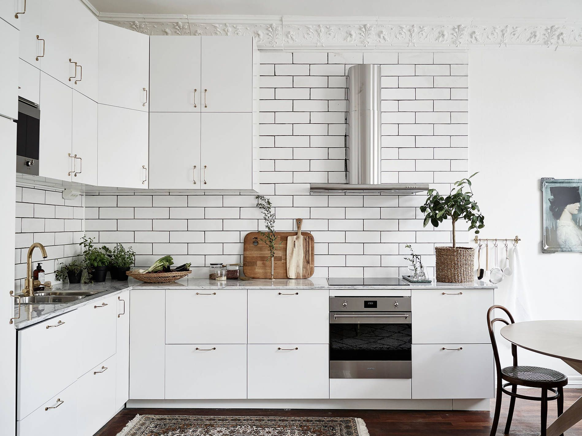 Light Living Kitchen White Interior Design