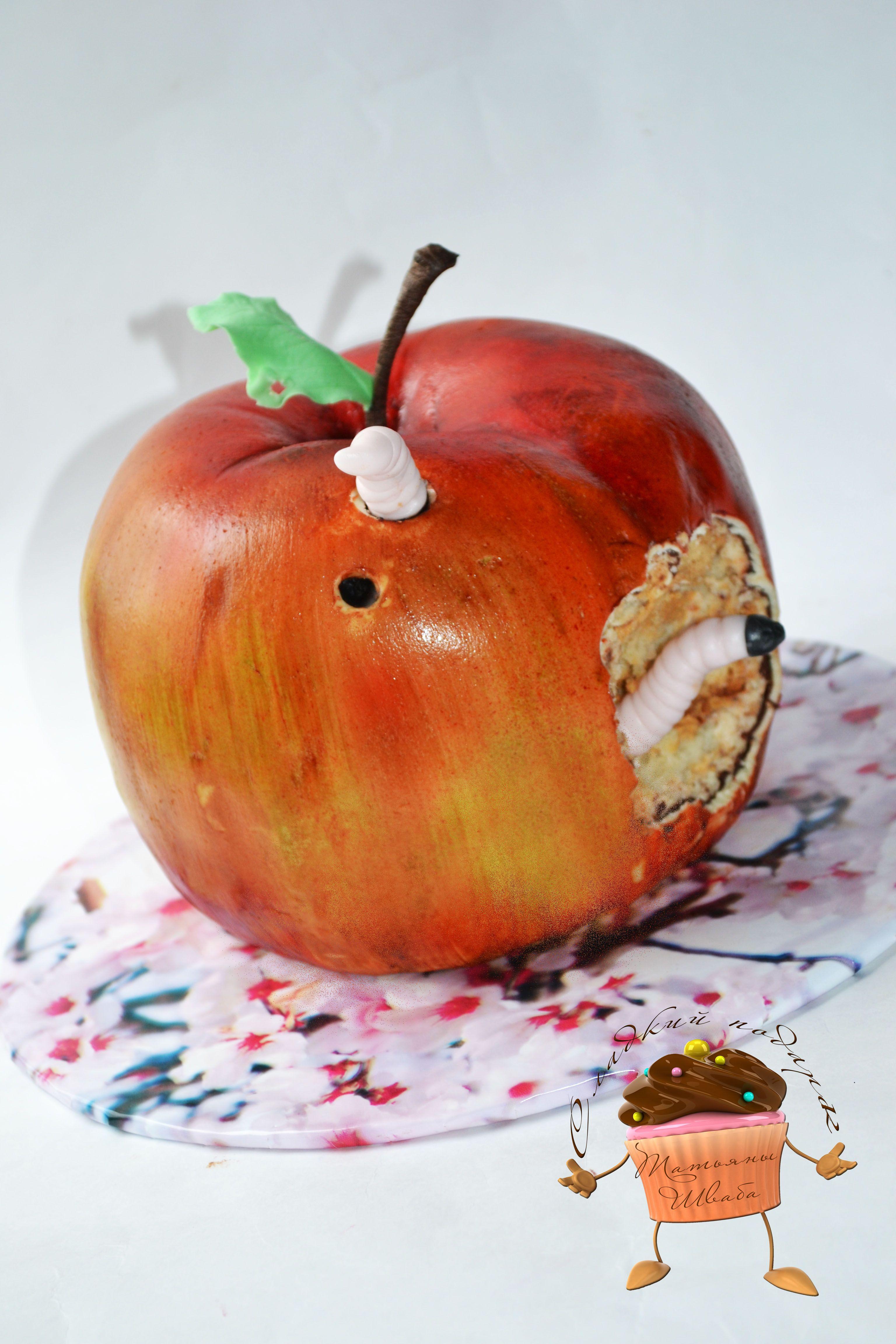 торт яблоко картинки оно красиво, только