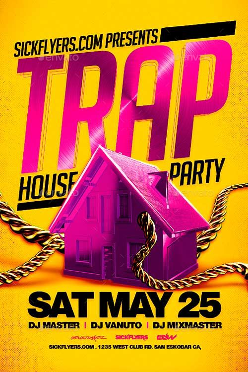 Trap House Party Flyer Template Http Ffflyer