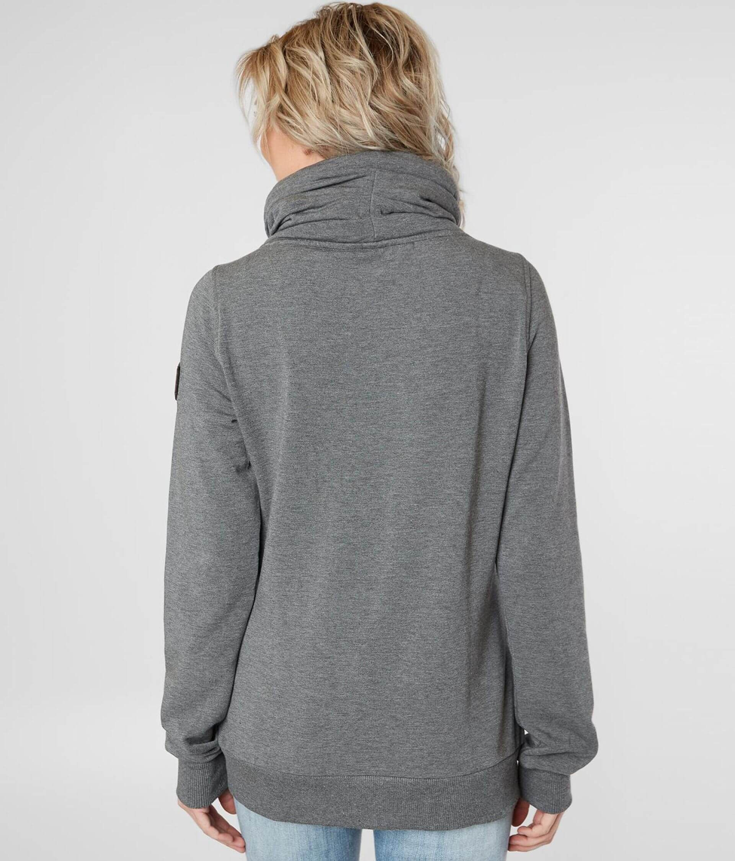 Wanakome Hestia Pleated Cowl Neck Sweatshirt Women S Sweatshirts In Black Heather Buckle Sweatshirts Women Cowl Neck Sweatshirt Cowl Neck [ 2251 x 1920 Pixel ]