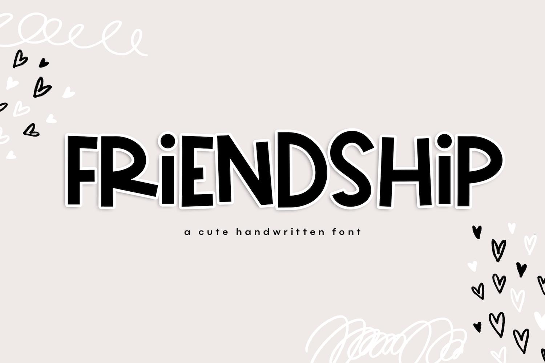 Friendship A Bold & Cute Handwritten Font Kid fonts