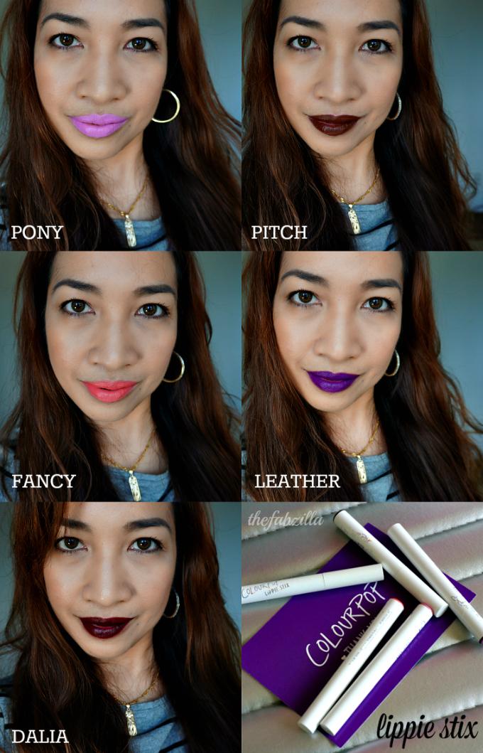 Colourpop Lippie Stix Swatches Love All These Colors: ColourPop Lippie Stix: Review, Swatch, Photos Feat. Pony
