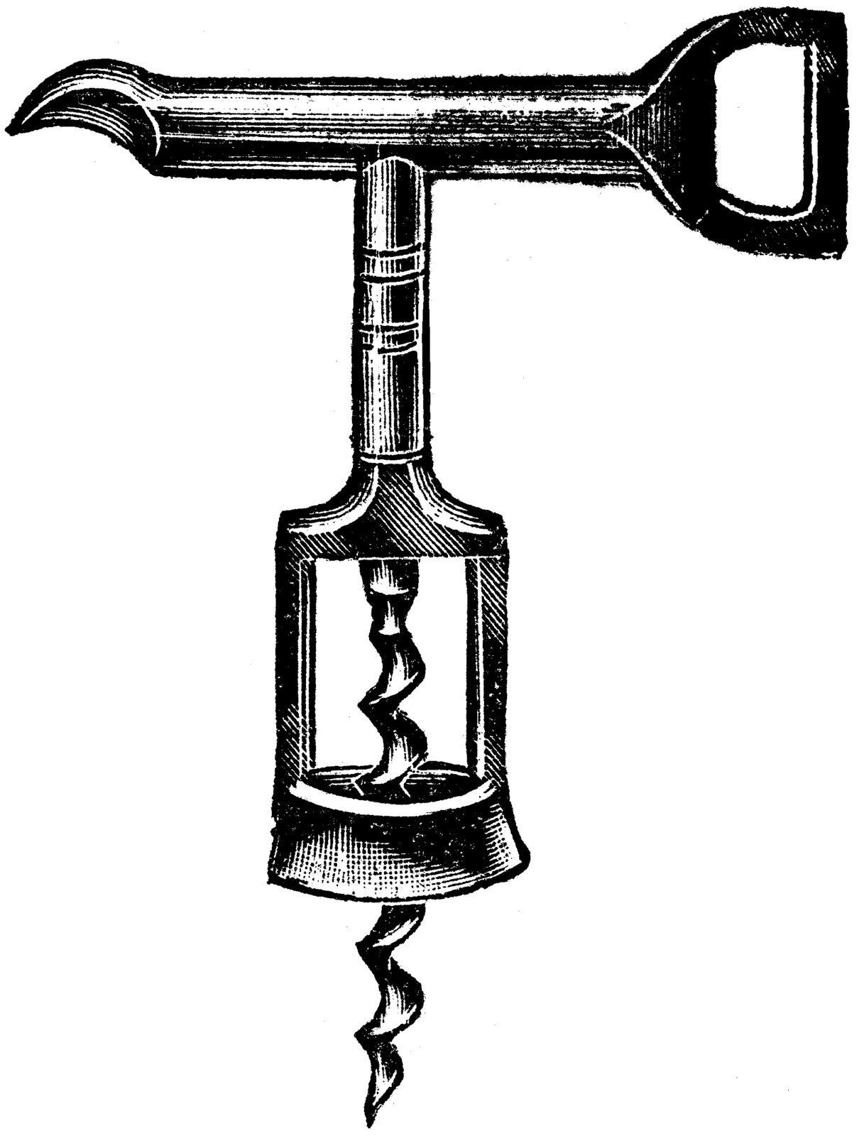 Free Vintage Clip Art Images Vintage Corkscrew Wine Openers Wine Opener Corkscrew Art Wine Art