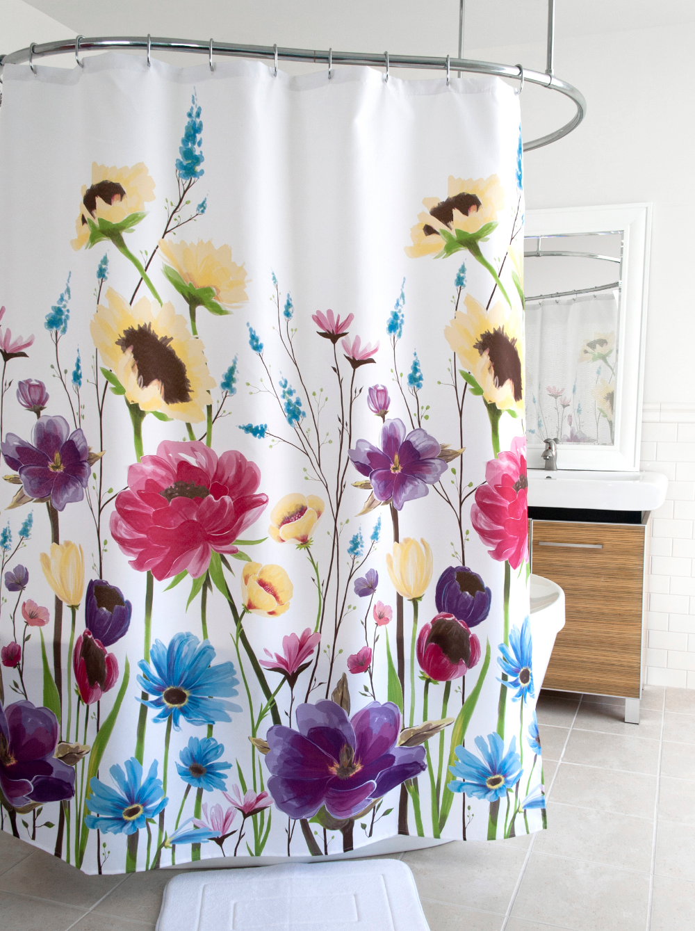 Home Fabric Shower Curtains Curtains Floral Shower Curtains