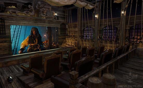Arrrrrrrr you jealous of this Pirates home theater?