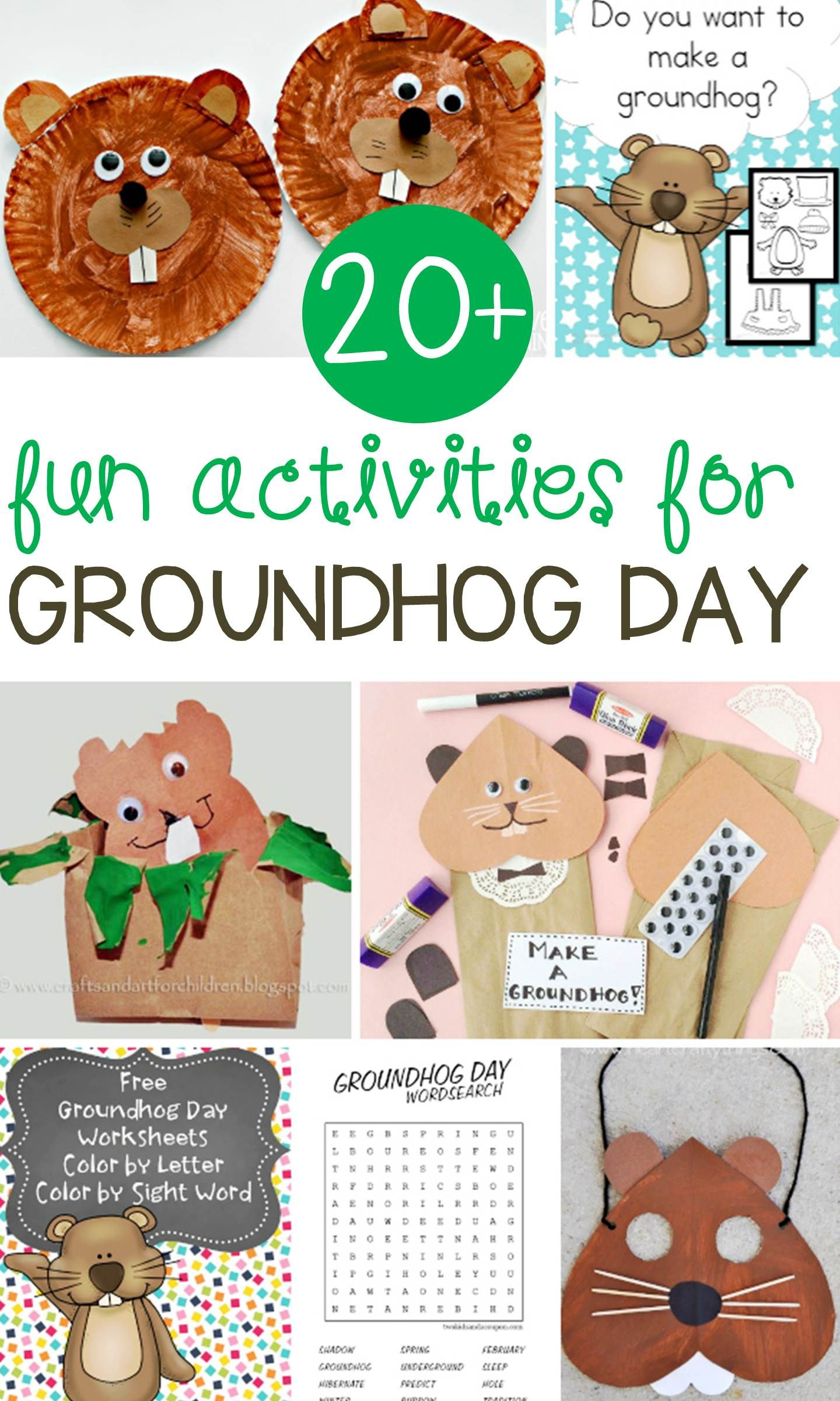 Fun Groundhog Day Activities for Kids | Día de la marmota, Para ...
