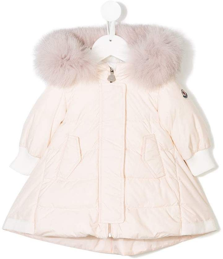193748aeb Moncler fur trimmed padded coat | Products | Toddler girl outfits ...