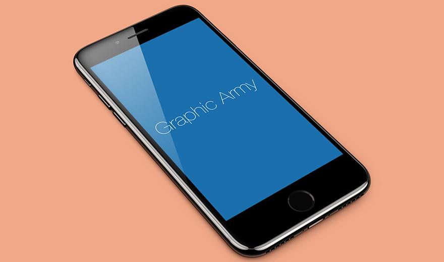 Download Free Iphone 7 Jet Black Perspective Mockup Iphone 7 Jet Black Free Iphone Iphone 7