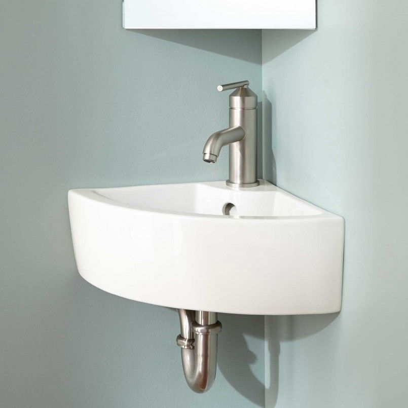 Bathroom Corner Wall Mounted Small Bathroom Sink Made Of White