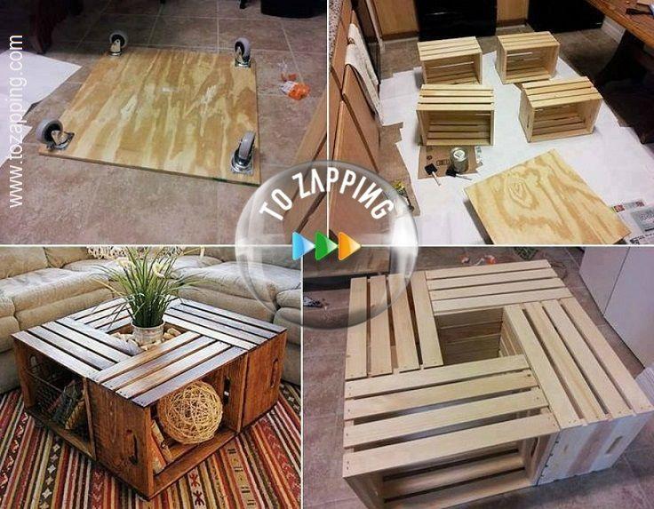 C mo hacer mesa de centro reciclada crea un hermosa mesa for Como hacer una pileta de material paso a paso