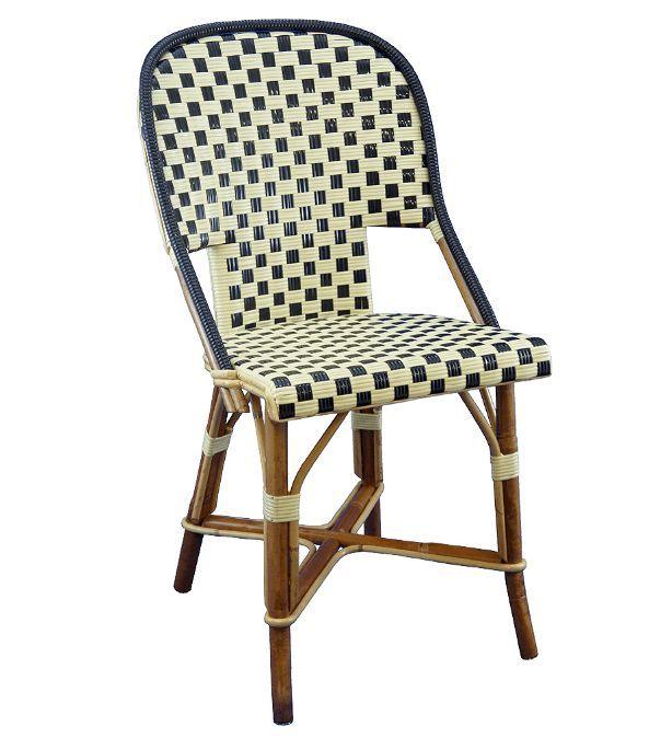 Maison Gatti - Chaise de terrasse à carreaux blancs et noir type ...