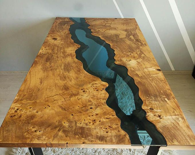 table de rivi re du bord live vendu avec une r sine poxy vendue f pinterest resine epoxy. Black Bedroom Furniture Sets. Home Design Ideas
