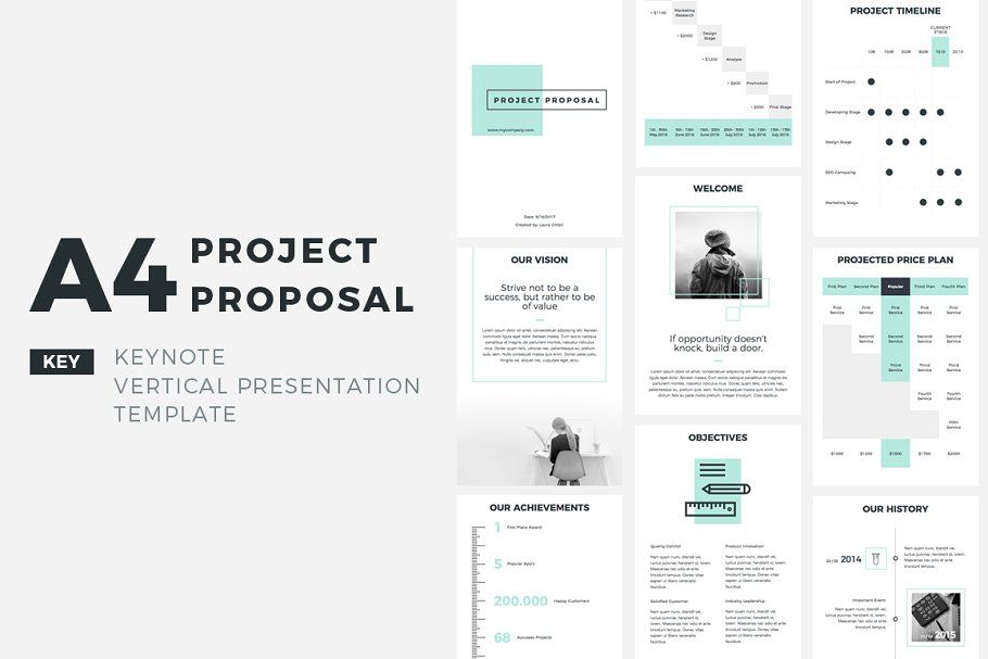 A4 Project Proposal Keynote By Creativeslides On Creativemarket