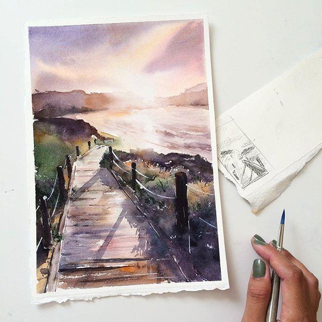 Watercolorist Samesjc Waterblog Akvarel Aquarelle Drawing