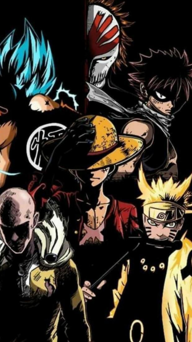 Les piller des anime et mang Bleach Fairy Tail Naruto Dragon Ball One Punch Man One Piece