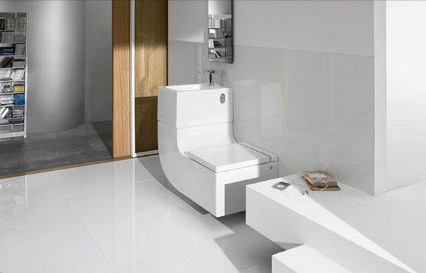 Eco Friendly Space Saving Toilet Washbasin Combo From Roca