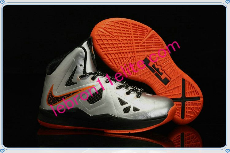 brand new f5af2 f82b3 Lebron 10 for Kids Lebron James Shoes Child Mango Booed Silver Orange