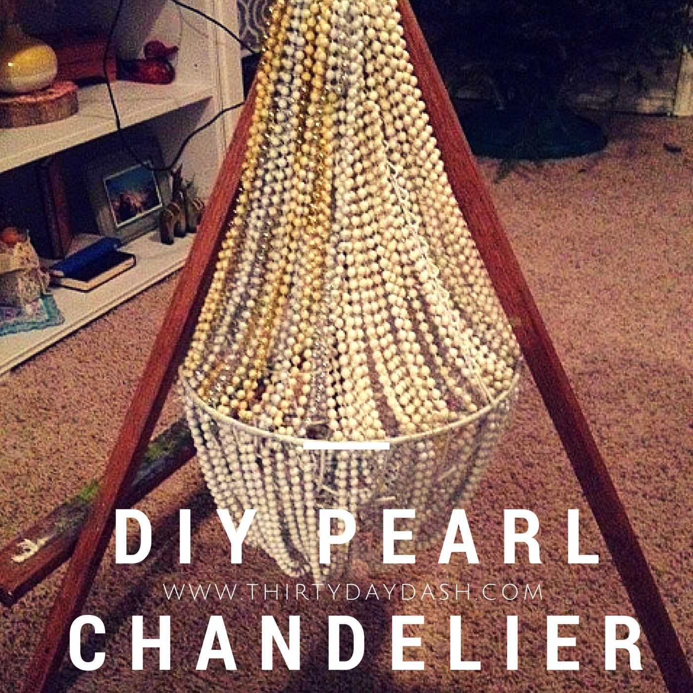 Dollar store crafts diy chandelier for your roaring 20s style diy chandelier for your roaring 20s style party check arubaitofo Image collections